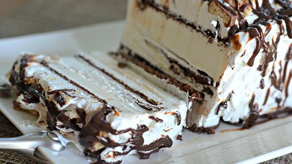 Κέικ παγωτό σάντουιτς με oreo