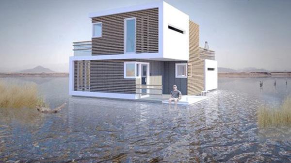 Το πλωτό σπίτι που σπάει στα δύο αν το ζευγάρι που μένει σε αυτό αποφασίσει να χωρίσει!!