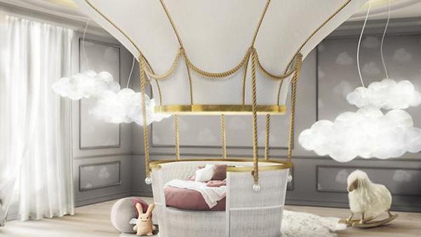 Η πιο παιχνιδιάρικη διακόσμηση για το παιδικό δωμάτιο με θέμα αερόστατο!