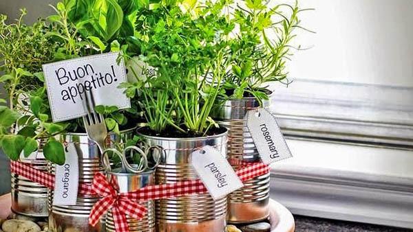 Αρωματικό DIY: φτιάξτε έναν κήπο μυρωδικών από κονσερβοκούτια για την κουζίνα σας!