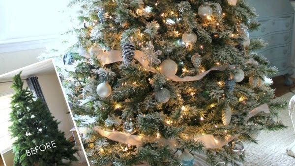 ΧΡΙΣΤΟΥΓΕΝΝΙΑΤΙΚΟ DIY!! Πώς το παλιό σας Δέντρο θα μοιάζει Χιονισμένο Εύκολα και Ανέξοδα;