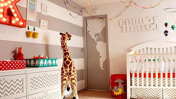 Πώς να βάψετε μόνοι σας ρίγες τον τοίχο του παιδικού δωματίου