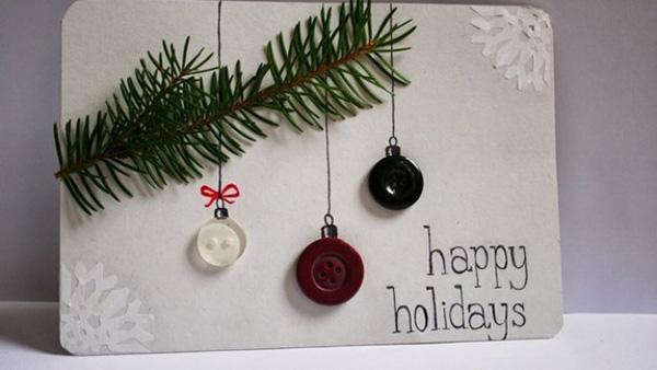 11 υπέροχες homemade Χριστουγεννιάτικες Κάρτες που γίνονται σε 30 λεπτά!!