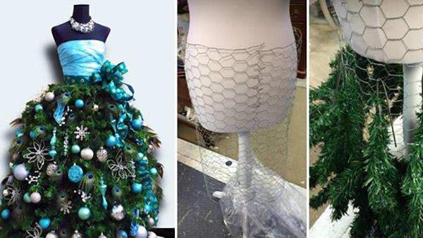 Πώς να φτιάξετε ένα ξεχωριστό Χριστουγεννιάτικο Δέντρο από κούκλα μοδιστρικής